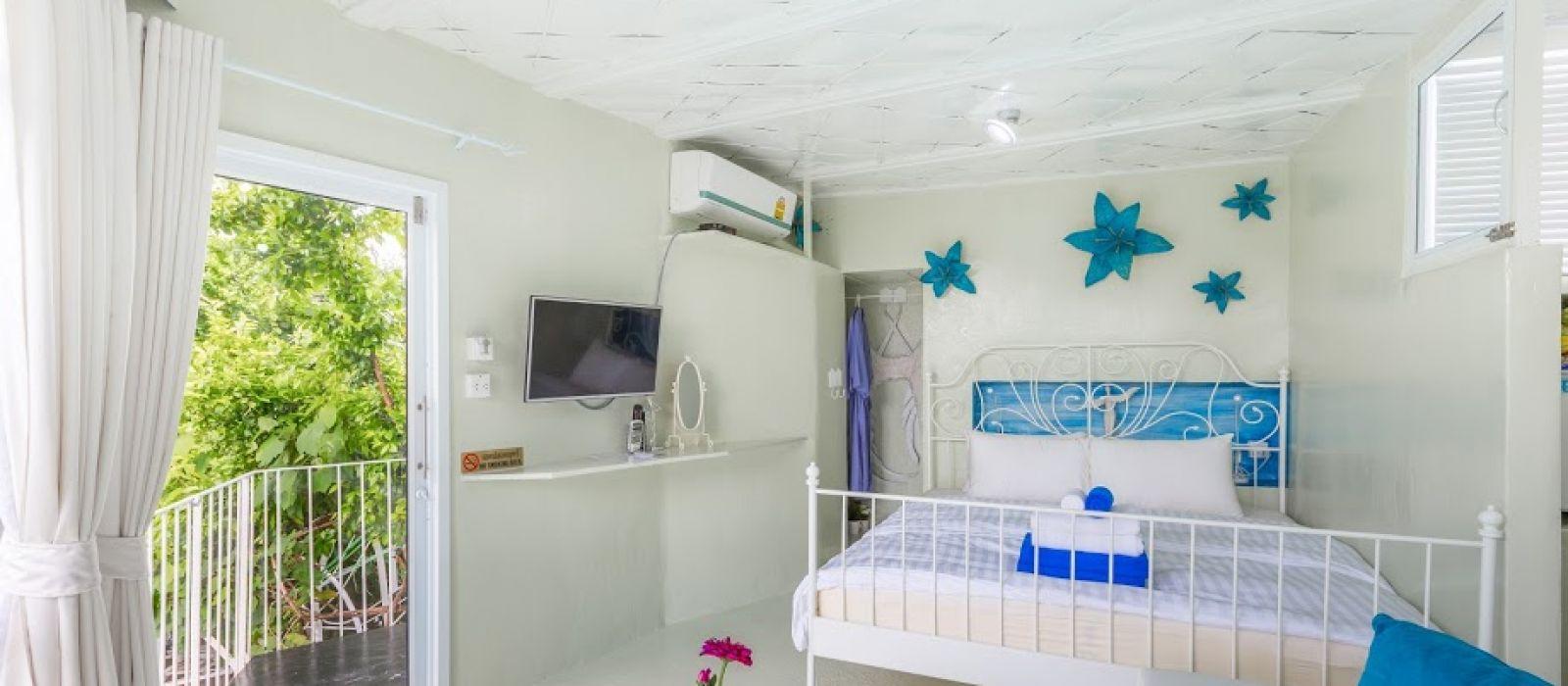 ห้องนอน ห้องนางฟ้า ให้รีสอร์ท ที่พักบางแสน ชลบุรี